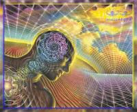 marzyciel / mistyczny świadomy otoczony hologramem