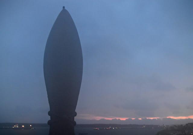 Silhouette of statue