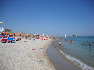 The beach at Fano is a popular attraction