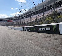 Mycroft Signs, RoadGrip and speedway operations staff used 5,400 gallons of paint in the project- #NASCAR