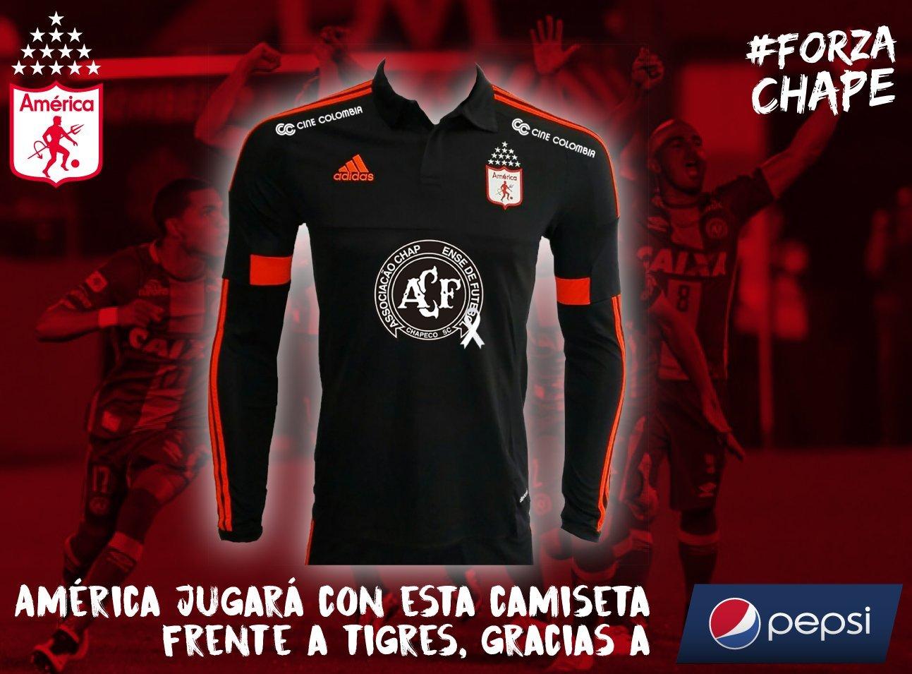 2a51dffa03 América de Cali homenageará a Chapecoense em sua camisa - Testando ...
