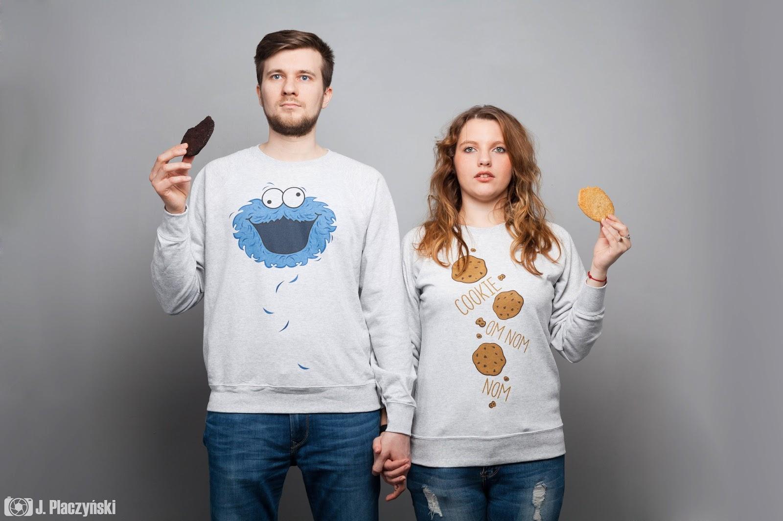 cookie bluzy cookie monster bluzy dla par dla zakochanych milosc walentynki idealne na prezent pomyslowe niebanalne nadruki koszulove com