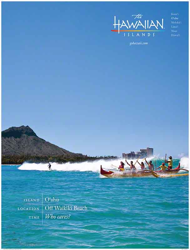 Hawaii poster, Waikiki, travel
