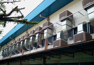 Hệ thống làm mát sử dụng máy làm mát nhà xưởng