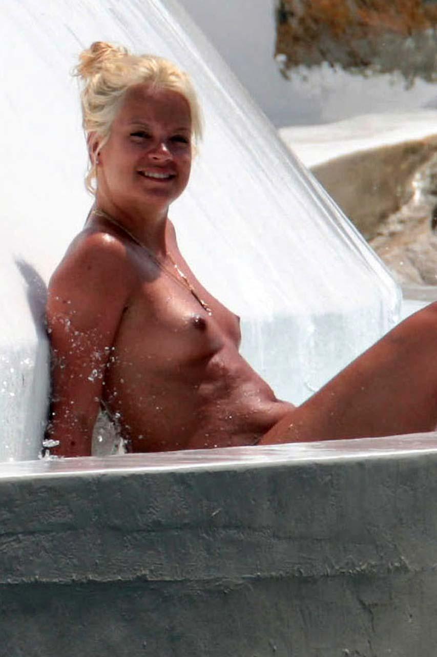 caught tanning nude