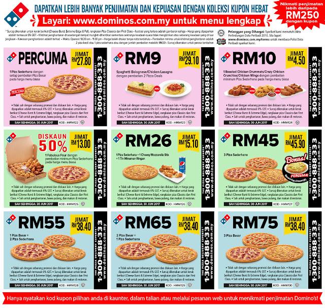 Harian Metro Malaysia Domino's Pizza eCoupons Discount Promo