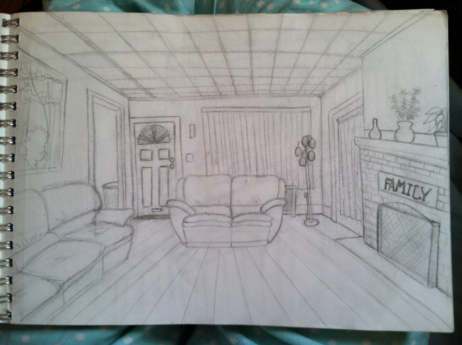 Gossipi 39 s animation one point perspective sketches - Two point perspective living room ...