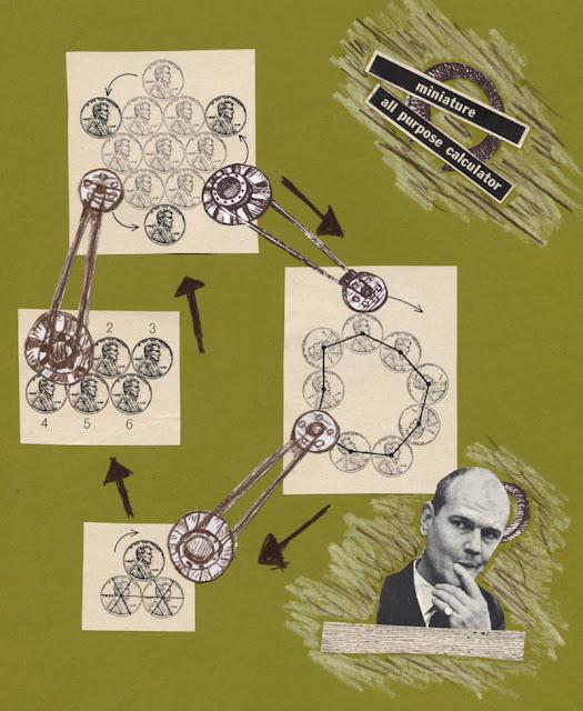 Paper hand cut collage for Los Dias Contados