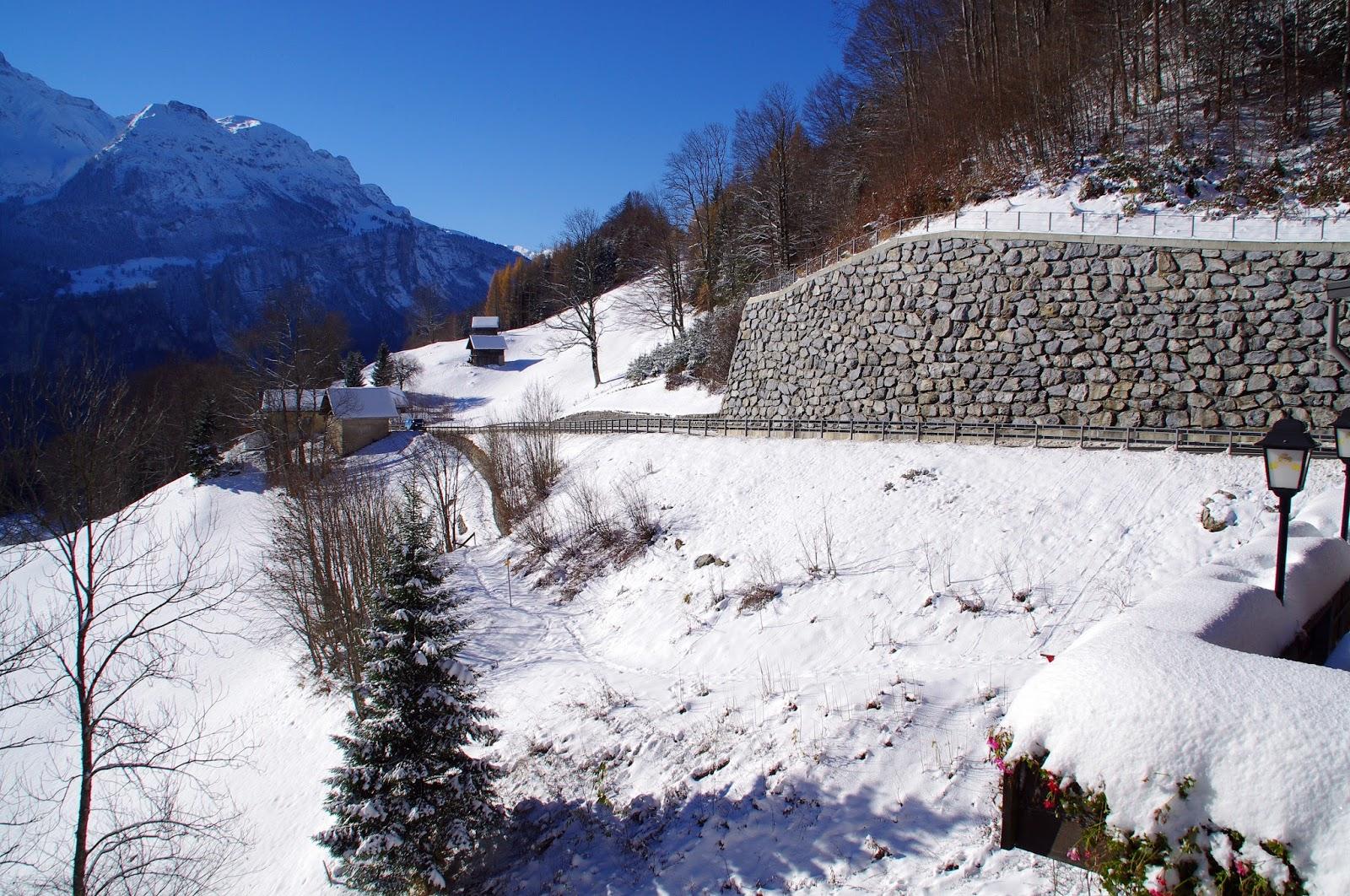 Driving Swiss Alps