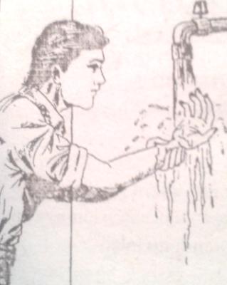 Membasuh kedua tangan sampai siku