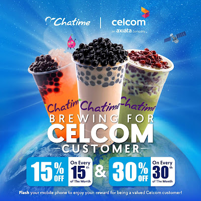 Chatime Malaysia Celcom Customer Discount Offer Promo