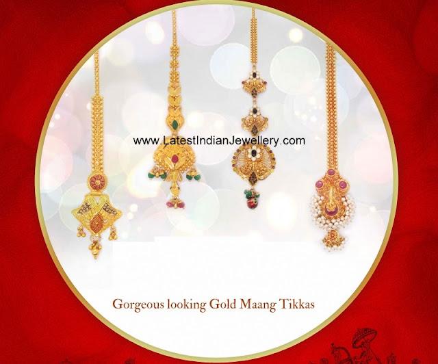 Gold Maang Tikka Styles