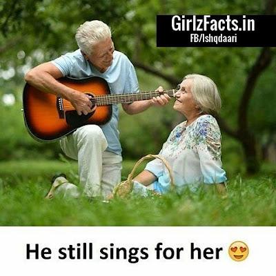 He still sings for her