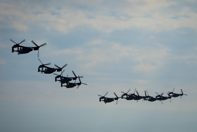 IMPRESSIVE FORMATION OF TEN CV22 OSPREYS