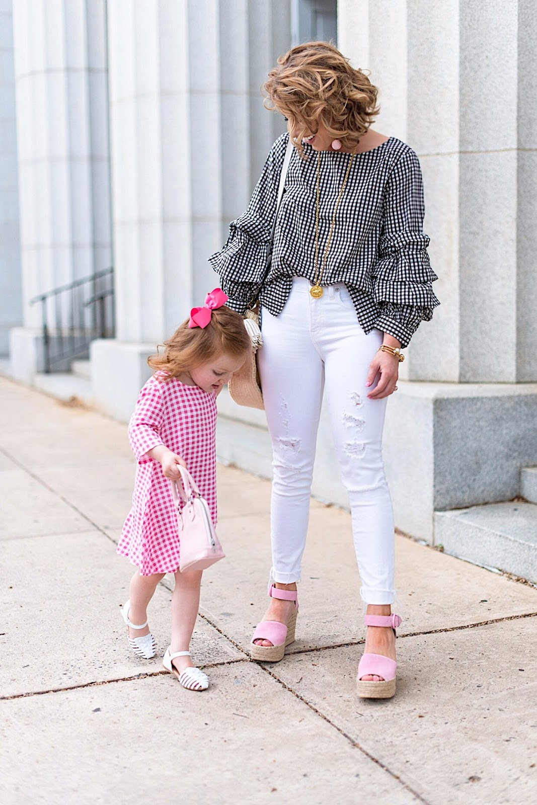 Mommy & Me in Gingham - Click through to see the full post on Something Delightful Blog