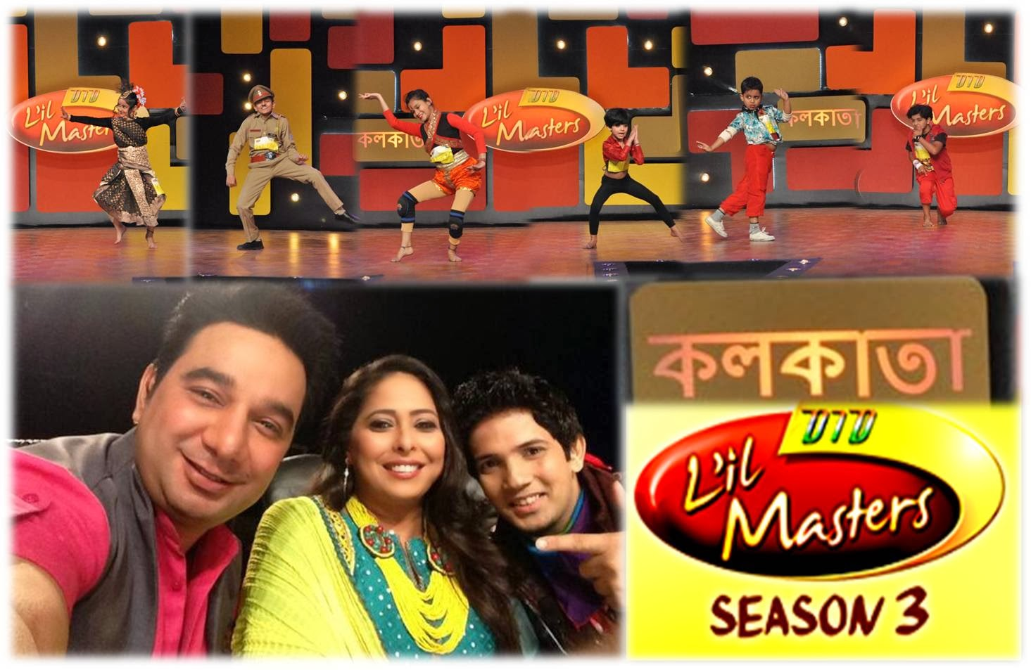 Dance Blasts by Small Packets in DID Little Masters Kolkata Auditions; Judges Ahmed, Geeta and Muddassar Khan taking selfie