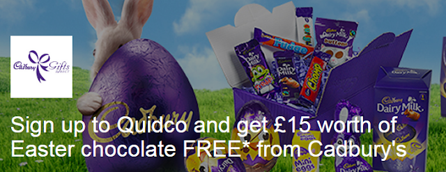 quidco free cadburys easter eggs