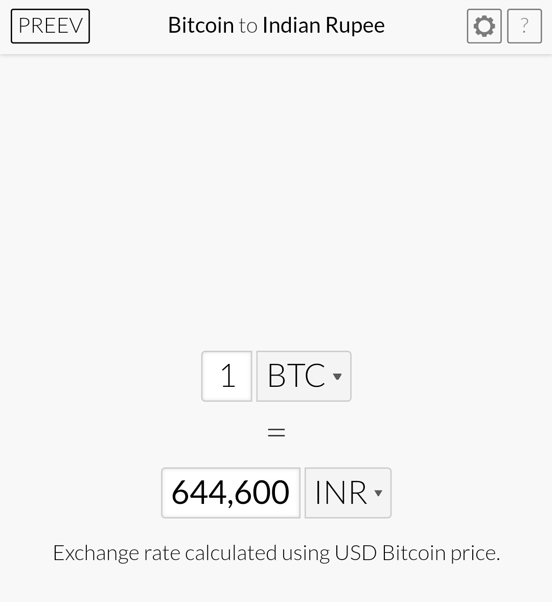 bitcoin price in india live chart