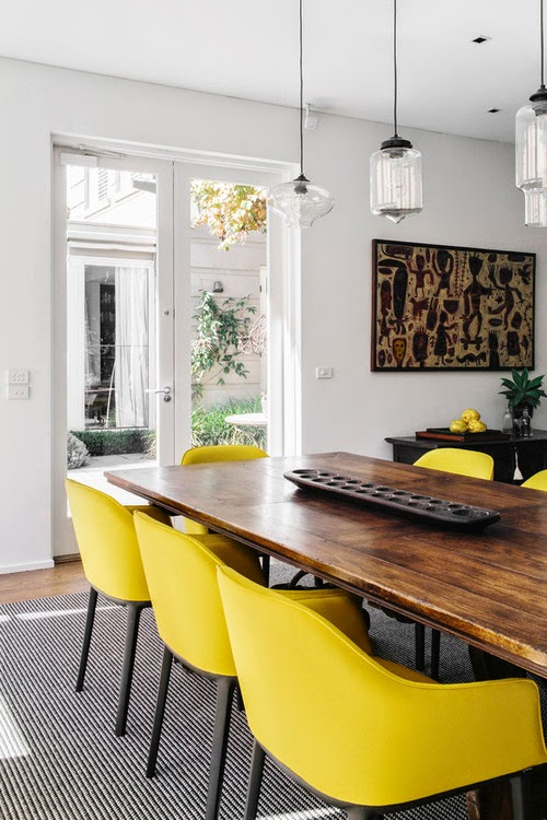 yellow dining chairs timeless design