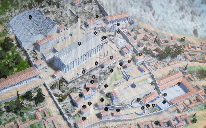 Rekonstruktion der Ausgrabung Delphi Griechenland