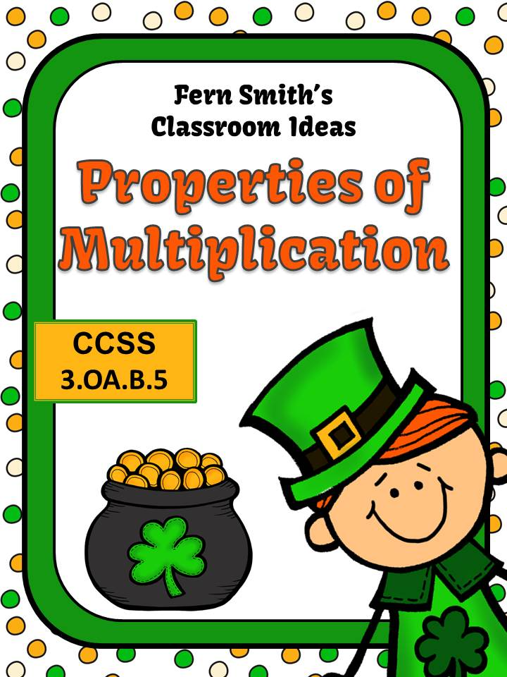 Fern Smith's Classroom Ideas St. Patrick's Day Properties of Multiplication Mega Math Pack