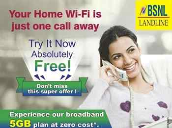 BSNL free 5 GB Home WiFi broadband plan has extended to all landline customers