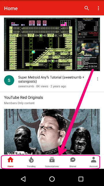 YouTube new navigation app update