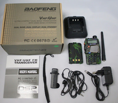 Baofeng UV-5R radio + accessories + manual