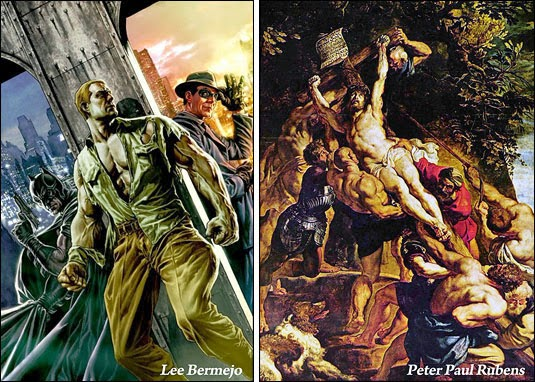 Anatomy and Compostions - Same Motifs: Rubens to Lee Bermejo