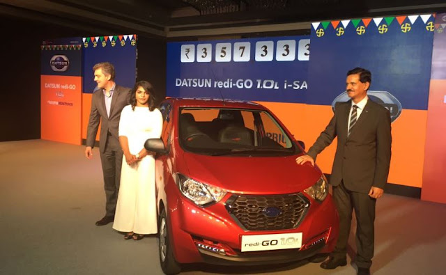 Datsun launches 1.0-liter engine ready-go, 3.57 lakh 22.5 kmpl mileage