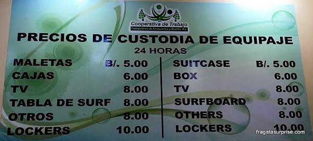 Onde guardar a bagagem no Aeroporto de Tocumen, Panamá