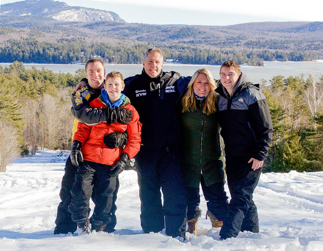 Family picture in the snow. Schroon Lake, NY