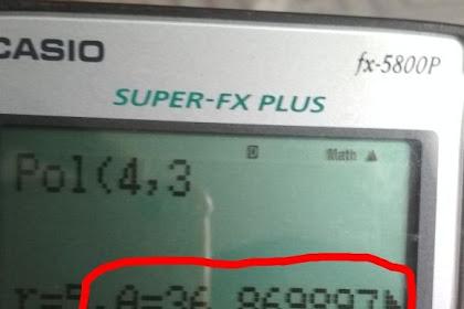Cara merubah desimal ke derajat menit detik pada kalkulator casio fx-5800P