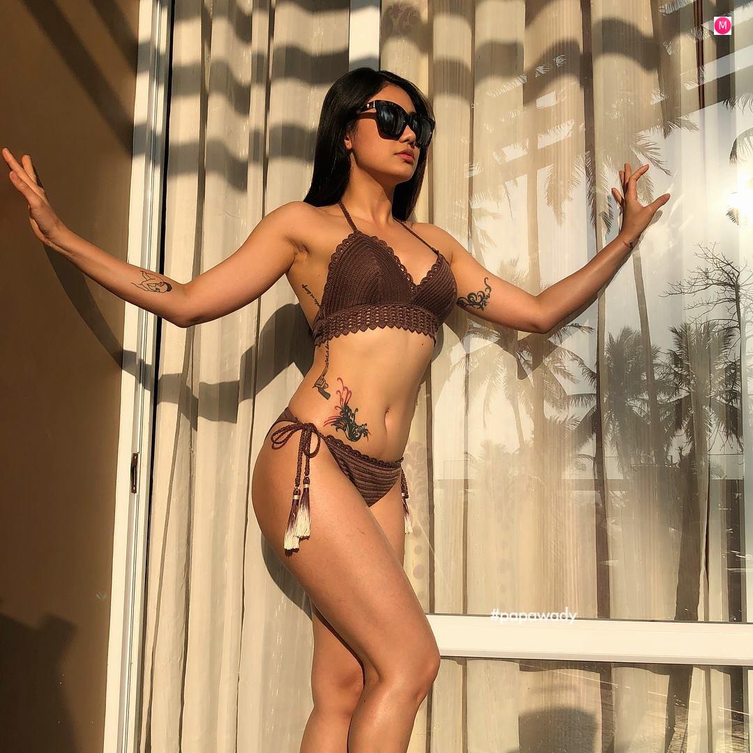 Thinzar Wint Kyaw Bikini Fashion Snaps In Chaung Thar Beach
