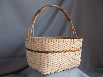 knitting basket with handle