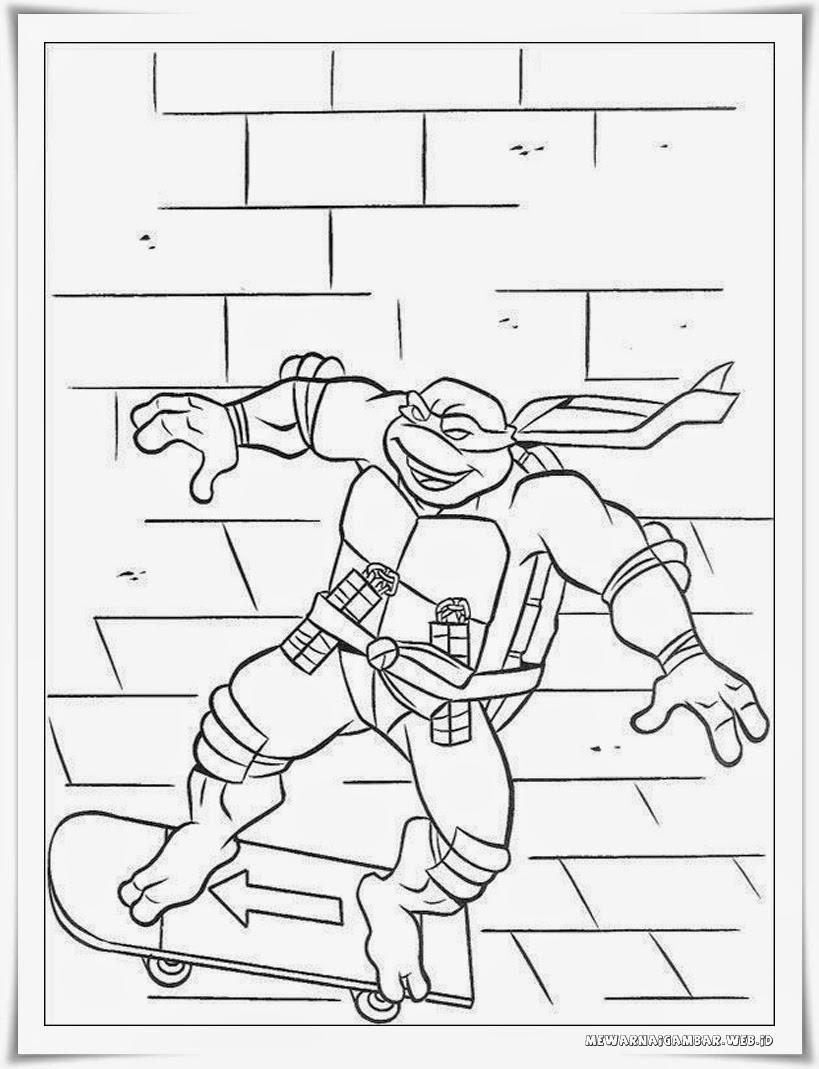 mewarnai gambar kura kura ninja teenage mutant ninja