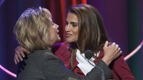 Queen Rania attended  the annual Clinton Global Initiative (CGI) award ceremony