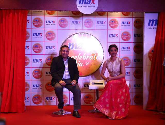 Mr. Saurabh Garg - Regional Head, North - Max Fashion India with Actress Radhika Apte