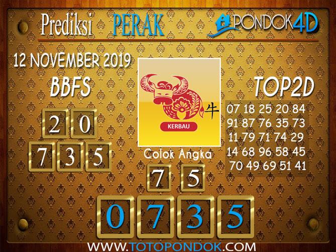 Prediksi Togel PERAK PONDOK4D 12 NOVEMBER 2019