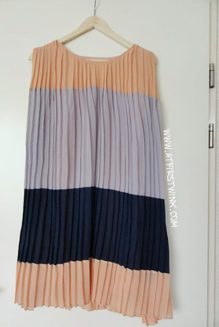 Korean color block dress from Gmarket