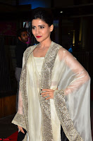 Samantha Ruth Prabhu cute in Lace Border Anarkali Dress with Koti at 64th Jio Filmfare Awards South ~  Exclusive 009.JPG