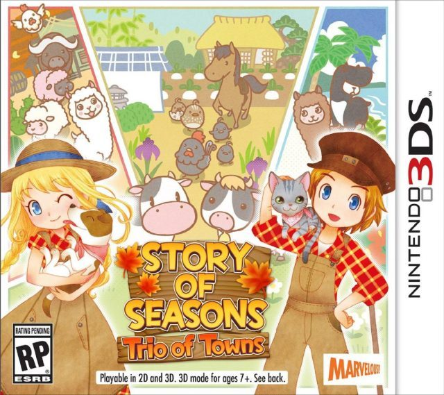 Story of Seasons: Trio of Towns (EUR) 3DS CIA + ROM + Decrypted