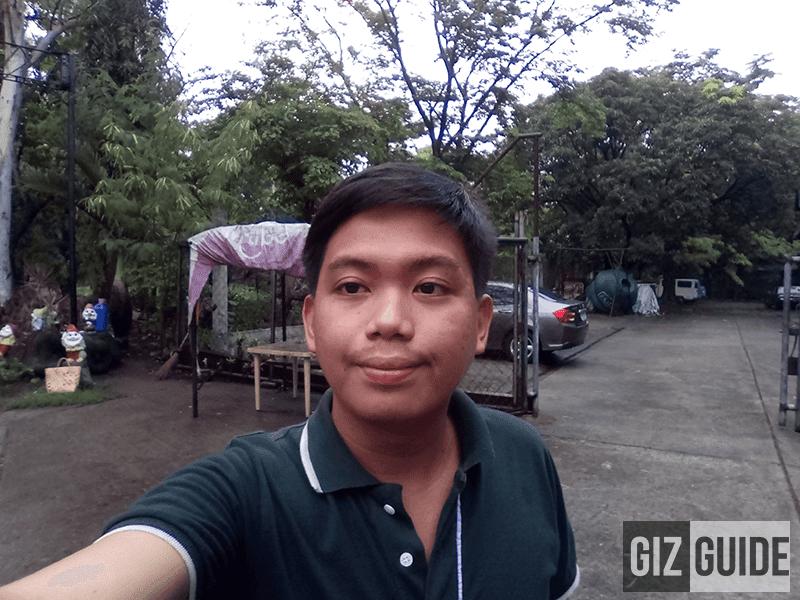 Selfie in gloomy weather