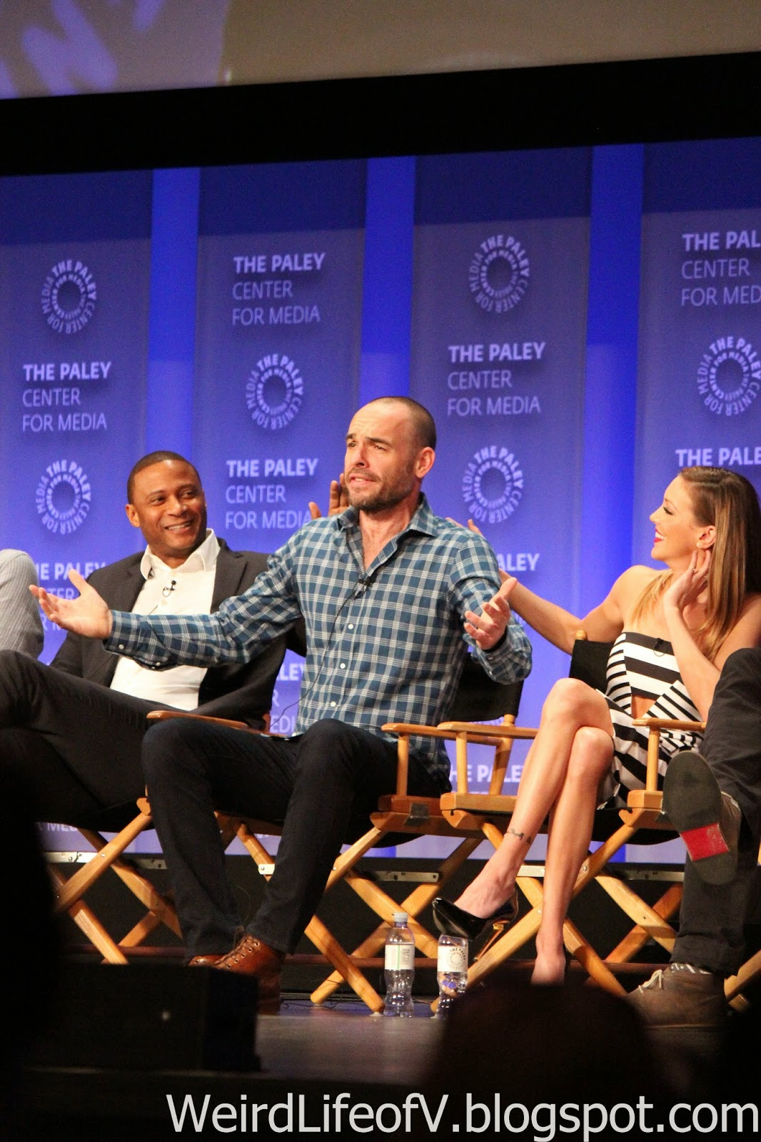 David Ramsey, Paul Blackthorne, and Katie Cassidy