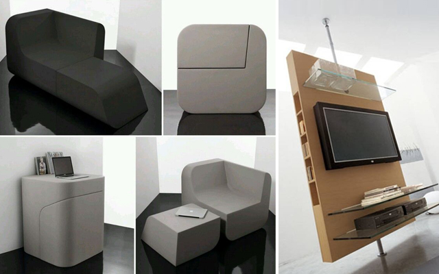 Ibercons arquitectura dise o muebles multifuncionales for Muebles para tv contemporaneos