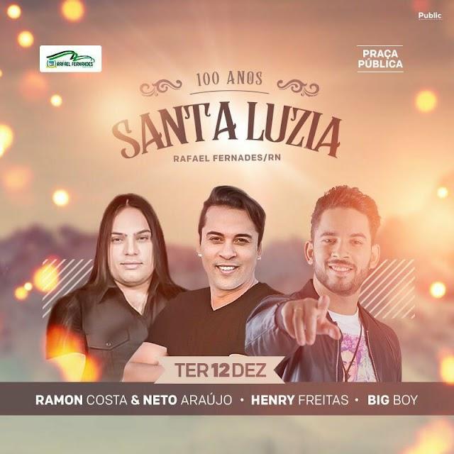 Festa de Santa Luzia 2017; Tradicional baile dos anos 60 acontecerá dia 12