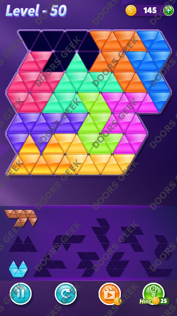 Block! Triangle Puzzle Master Level 50 Solution, Cheats, Walkthrough for Android, iPhone, iPad and iPod