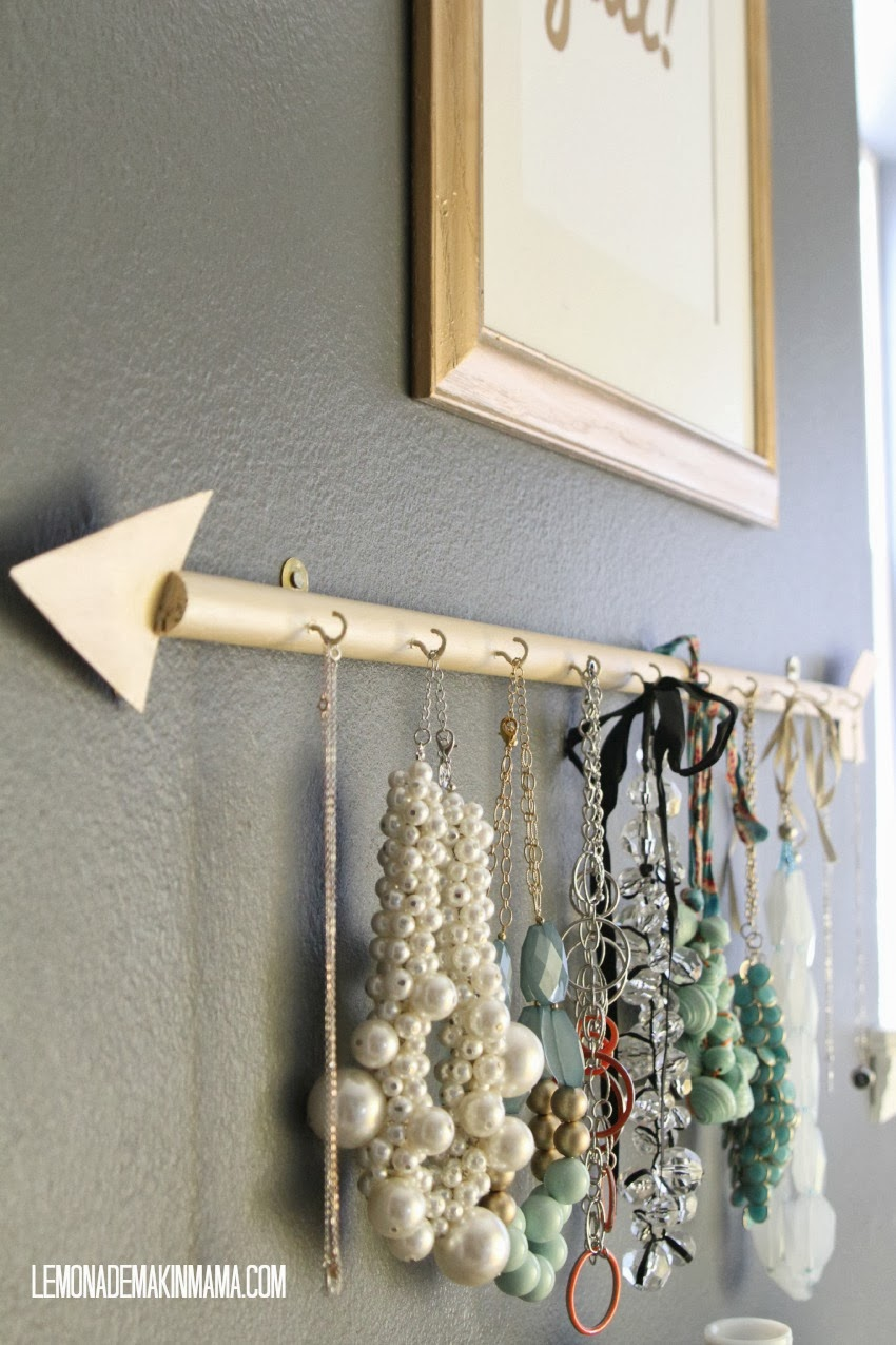 diy necklace holder lemonade makin the arrow jewelry holder diy 31065