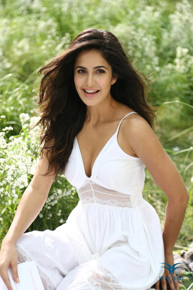 Bollywood Model Katrina kaif Hot Ad Photoshoot In Beautiful White Dress