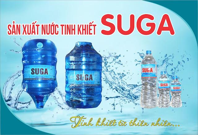 Nước uống tinh khiết đóng bình SUGA